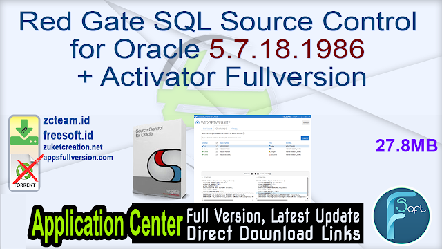 Red Gate SQL Source Control for Oracle 5.7.18.1986 + Activator Fullversion