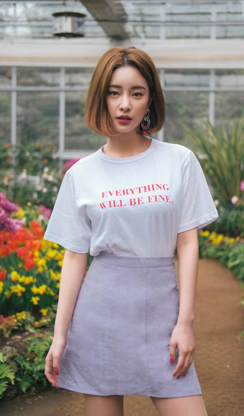 Single Tone A-Line Skirt