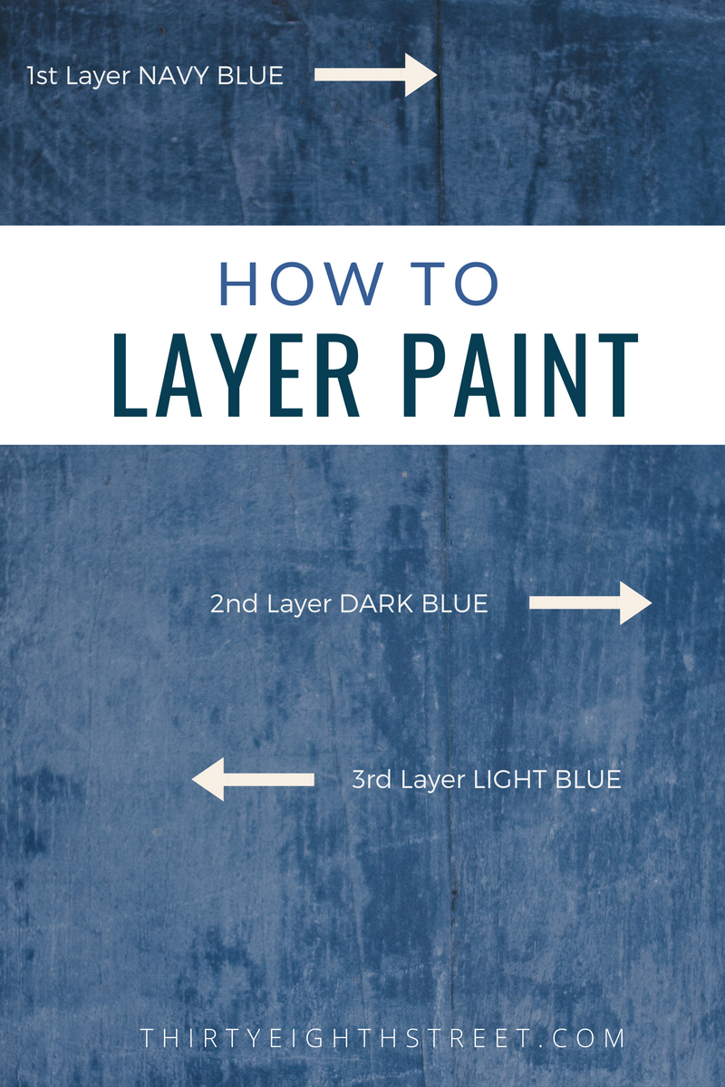 How To Blend and Layer Paint, furniture painting blog, furniture painting technique