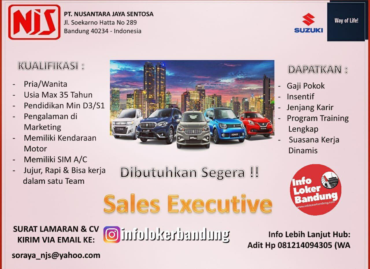 Lowongan Kerja Sales Executive PT. Nusantara Jaya Sentosa ( Suzuki Mobil ) Bandung Juni 2019