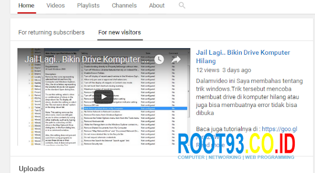 Mengatur Halaman Depan Channel Youtube 9