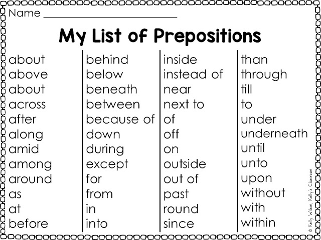 My List of Prepositions from It Came from Under the High Chair: A Mystery by Karl Beckstrand