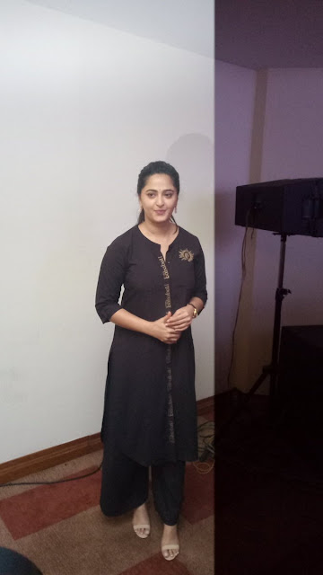 Actress Anushka Shetty Stills at Baahubali 2 Tamil Press Meet