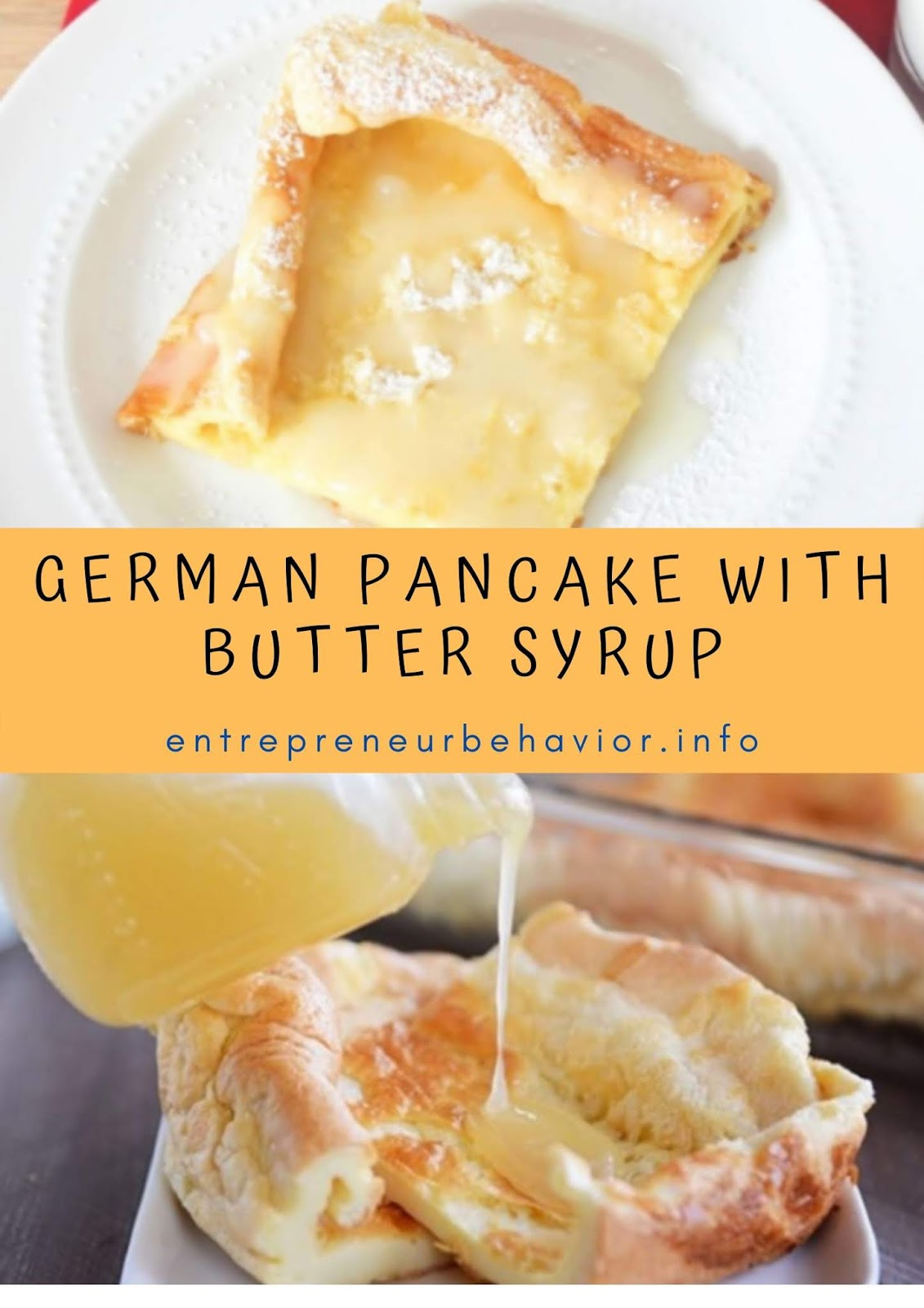 German pancake With Butter Syrup