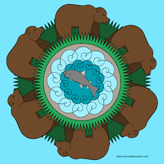 Bear Mandala- colored version