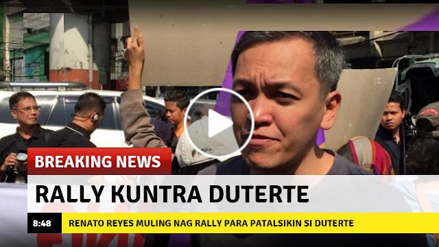 Renato Reyes muling nag rally para patalsikin si Duterte