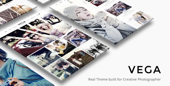 Vega – Photography Portfolio template WordPress Free