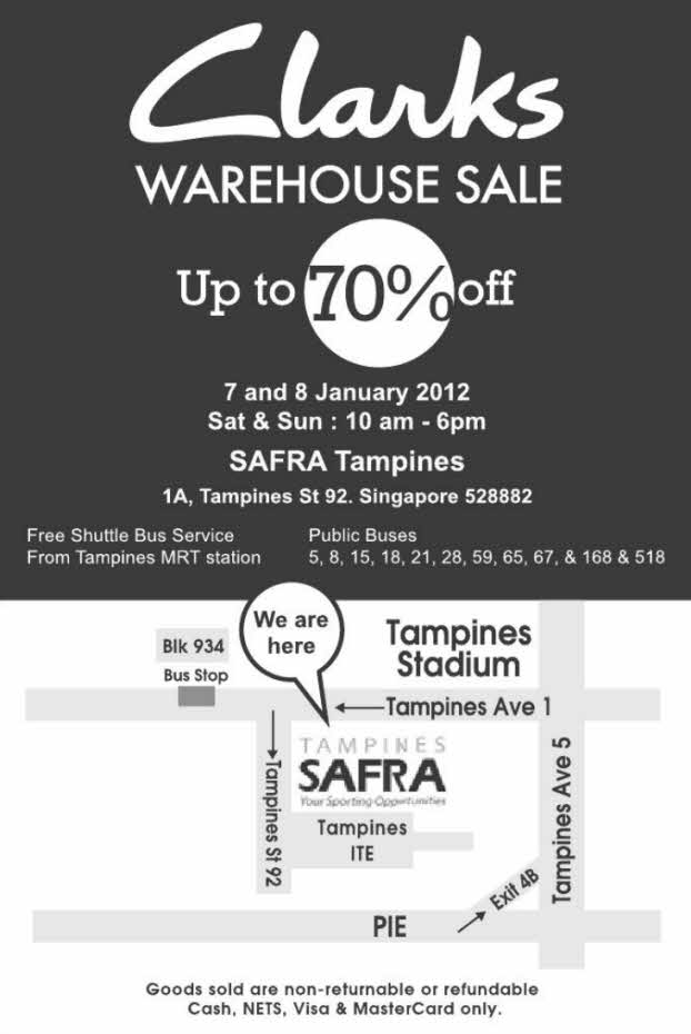 1d1ee1333 07JAN2012 Clarks Warehouse Sale
