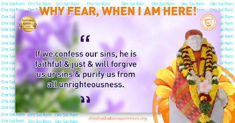 Confess Sins To God - Sai Baba Idol Picture