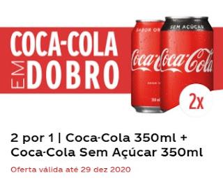 Cadastrar Promoção Coca-Cola em Dobro Compre Ganhe Coca Sem Açúcar Grátis - Cupom