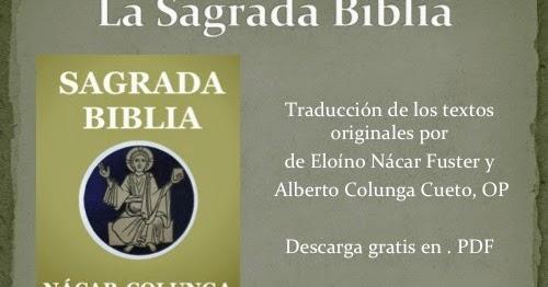 La Biblia En Español: Descargar Gratis Sagrada Biblia
