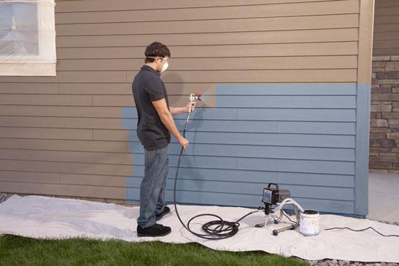 sử dụng máy phun sơn công nghiệp