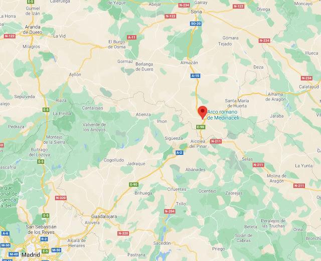 donde está el pueblo de Medinaceli en Soria