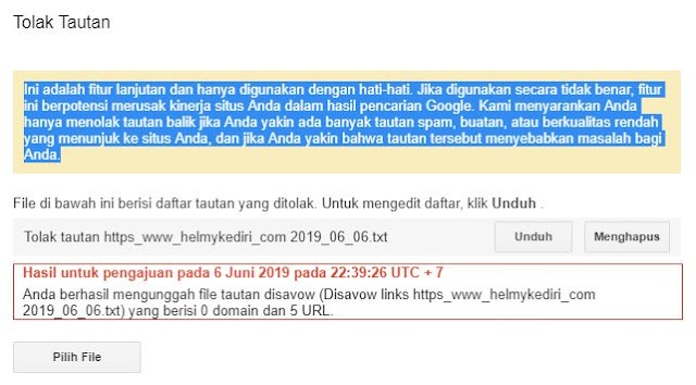 backlink toxic/spam dan menghapusnya