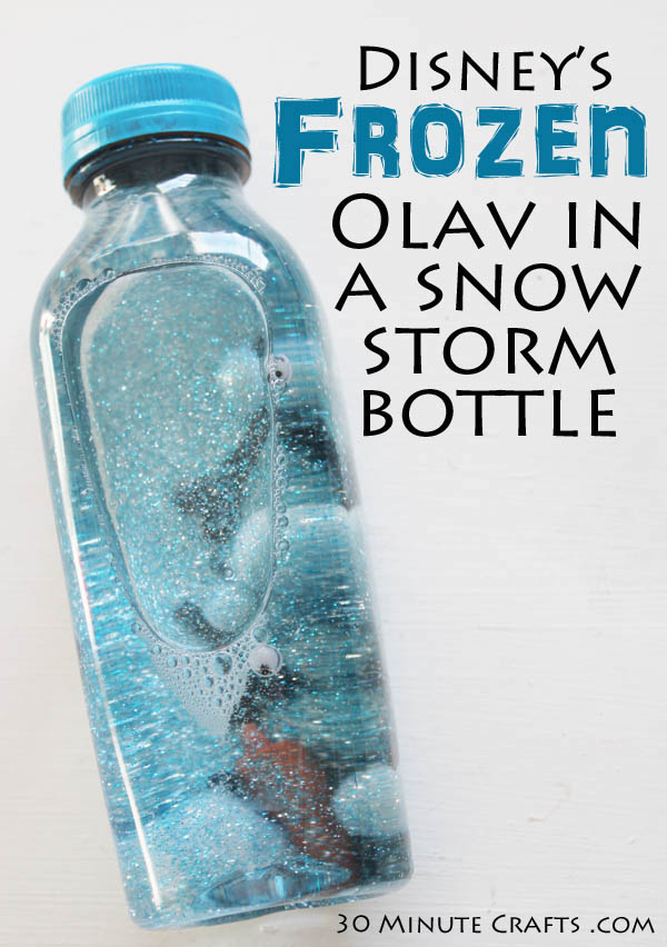 Olaf in a Snowstorm Water Bottle Craft for Kids