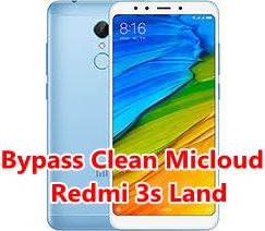 Bypass Micloud Redmi 3s