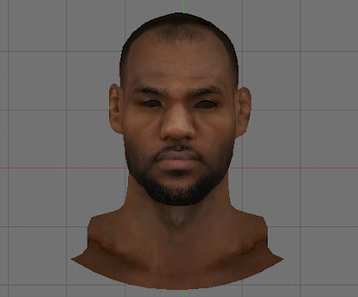 NBA 2K14 LeBron James Face Mod