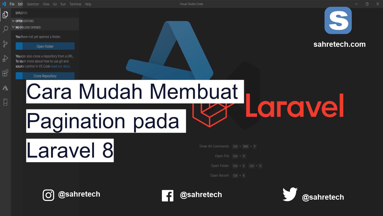 Cara Mudah Membuat Pagination pada Laravel 8