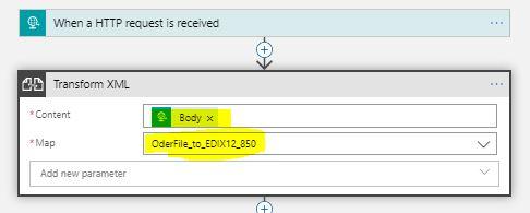 Transform xml to EDI 850 XML