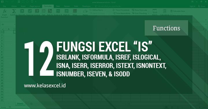 12 Fungsi Rumus Informasi IS Pada Microsoft Excel