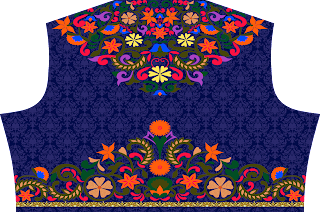 digital print Choli design