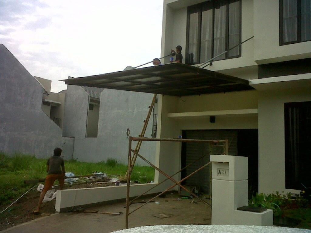 canopy carport kanopi  canopy tanpa  tiang  minimalis  model