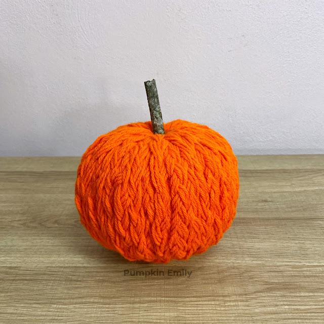 Orange Braided Yarn Pumpkin