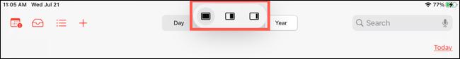 قائمة تعدد المهام على iPad