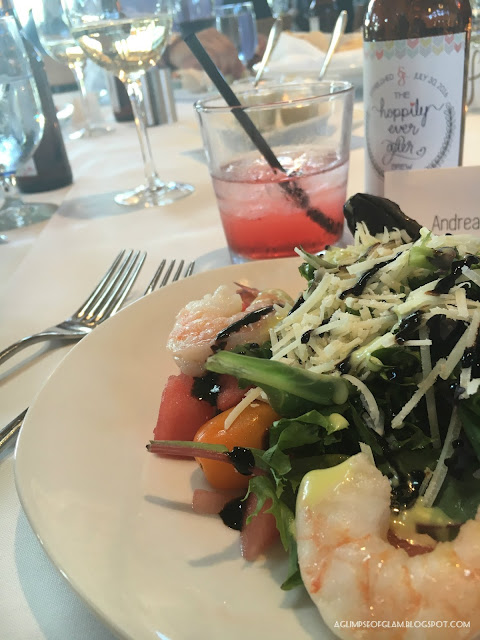 Shrimp and Watermelon Salad - Andrea Tiffany A Glimpse of Glam