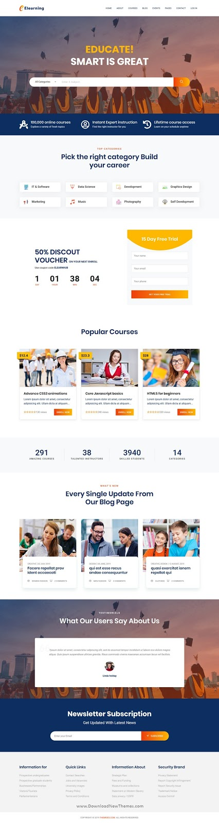 Best Multipurpose React Education Template