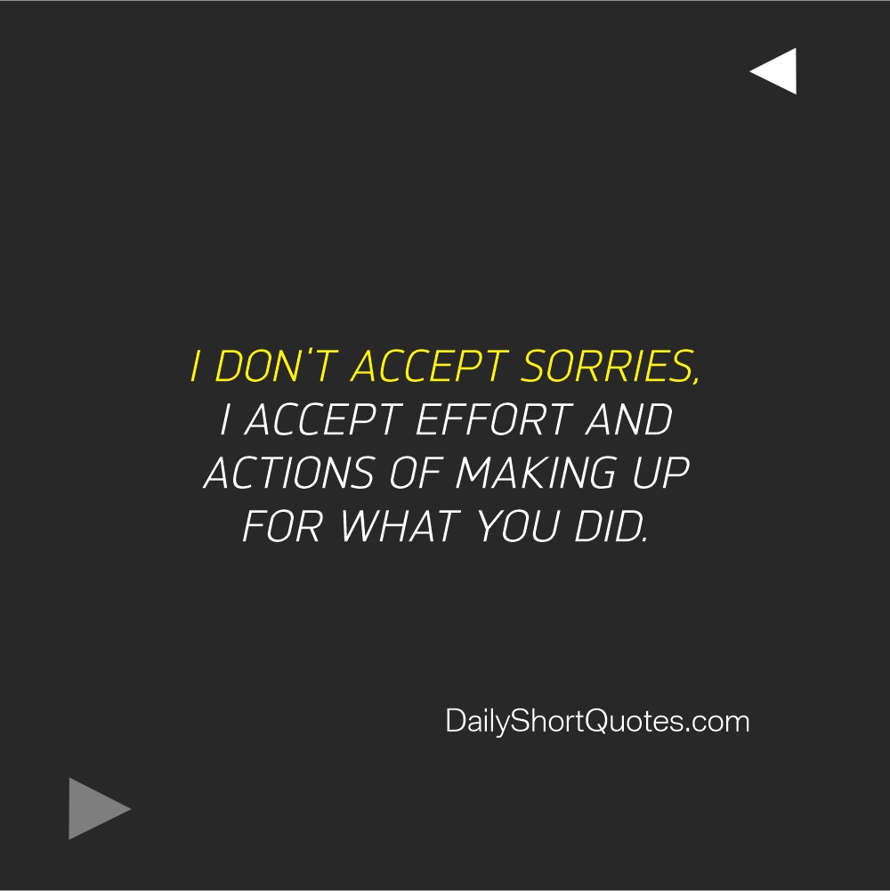 Attitude Quotes on Sorry