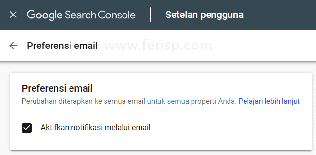 Email Preferences Page