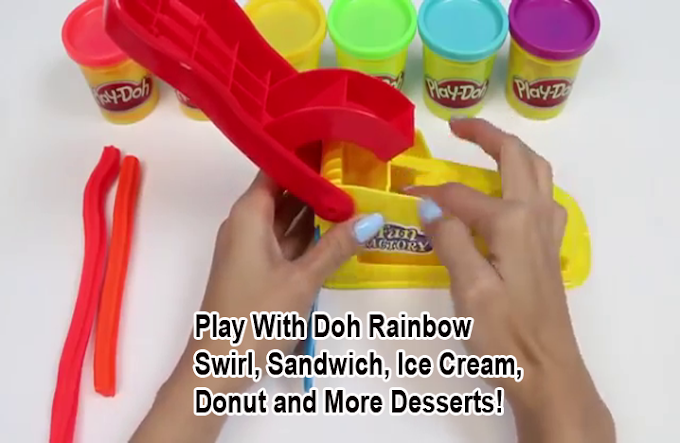Play With Doh Rainbow Swirl, Sandwich, Ice Cream, Donut and More Desserts!