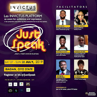 """EVENT: Invictus Virtues sets to host an entrepreneur Seminar tagged """"Just Speak"""""""