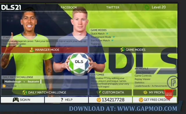 First Touch Soccer Mod DLS 21