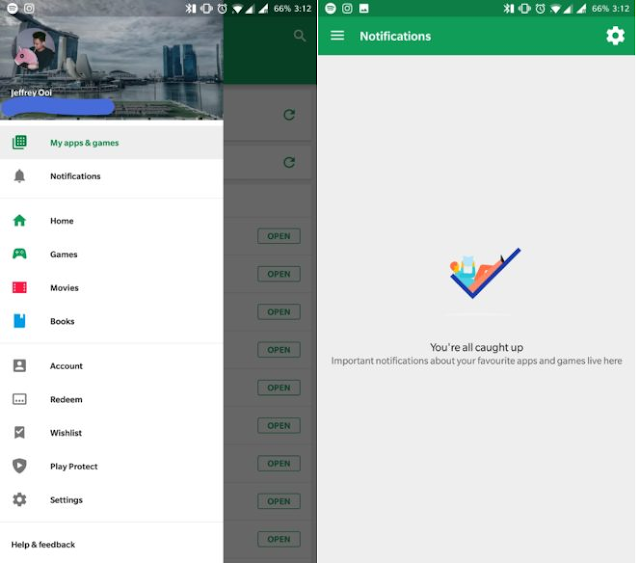 Did you got new Notification Section in Google Play Store? Learn More Here