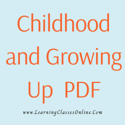 Childhood and Growing Up PDF download free in English Medium Language for B.Ed and all courses students, college, universities, and teachers