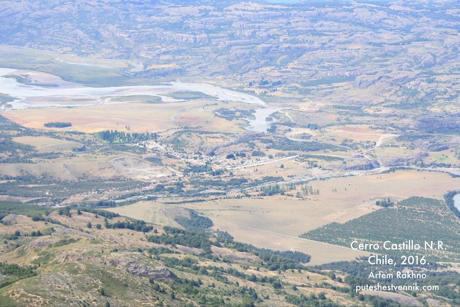 Вид с высоты птичьего полета на Виллу Серро Кастильо