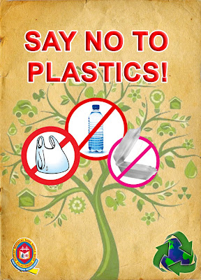 essay with advocating individuals to help declare simply no towards plastic materials poster
