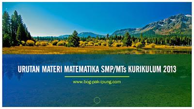 materi matematika smp kurikulum 2013