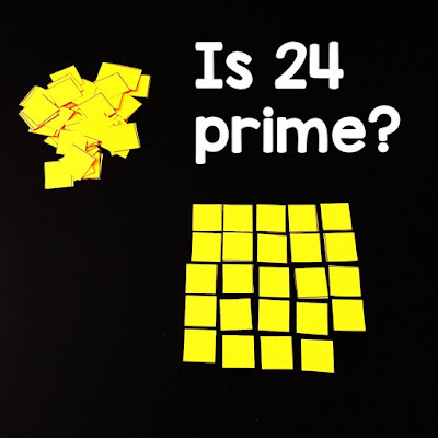 prime number vs. composite number discovery activity