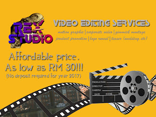 rex studio, video editing, video editing services, motion graphic, corporate video, logo reveal, product promotion, teaser