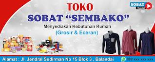 Download Desain Spanduk Toko Sembako