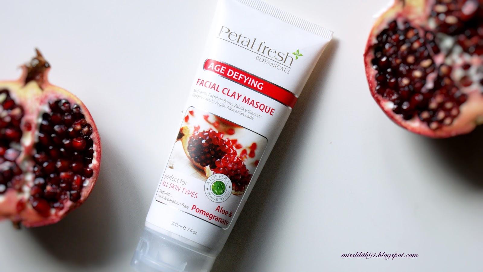 Petal fresh, Głęboko oczyszczająca maska do twarzy Aloe & Pomegranate