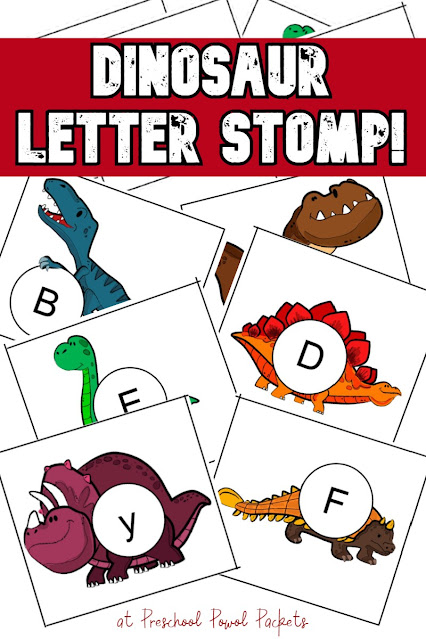 Dinosaur alphabet stomp - a letter game for preschoolers