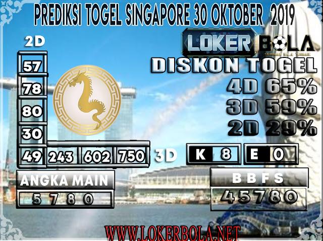 PREDIKSI TOGEL SINGAPORE LOKERBOLA 30 OKTOBER 2019