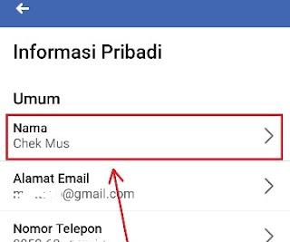 Cara Mengganti Nama Facebook Dari HP