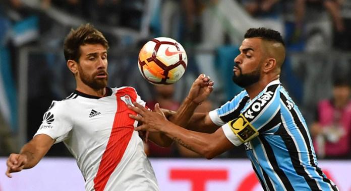 O Grêmio tinha a vantagem por ter vencido na Argentina por 1 a 0 8762d026acd98