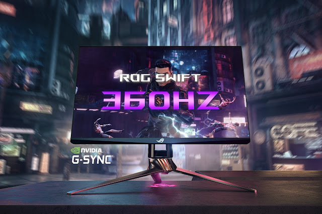 ASUS Republic of Gamers anuncia o ROG Swift 360Hz, o primeiro monitor gaming do mundo com 360Hz e tecnologia NVIDIA G-SYNC