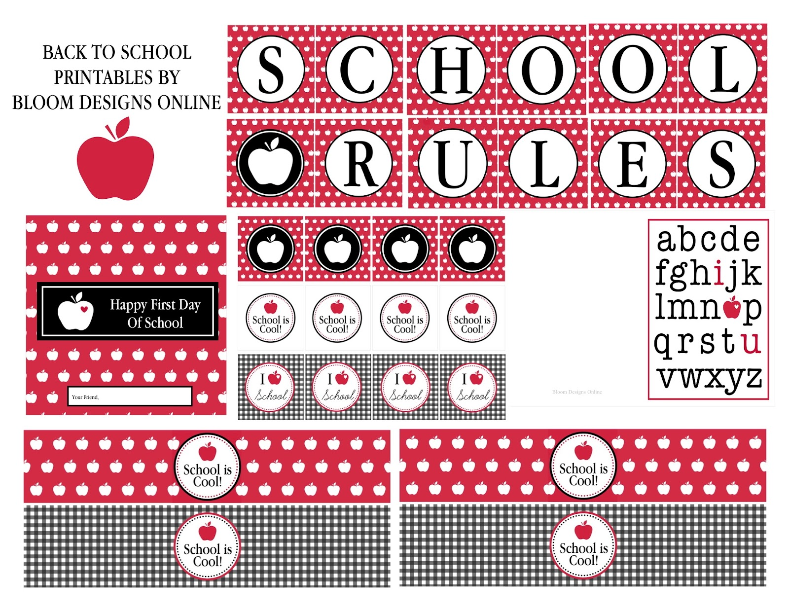 Bloom Designs Back To School Printables